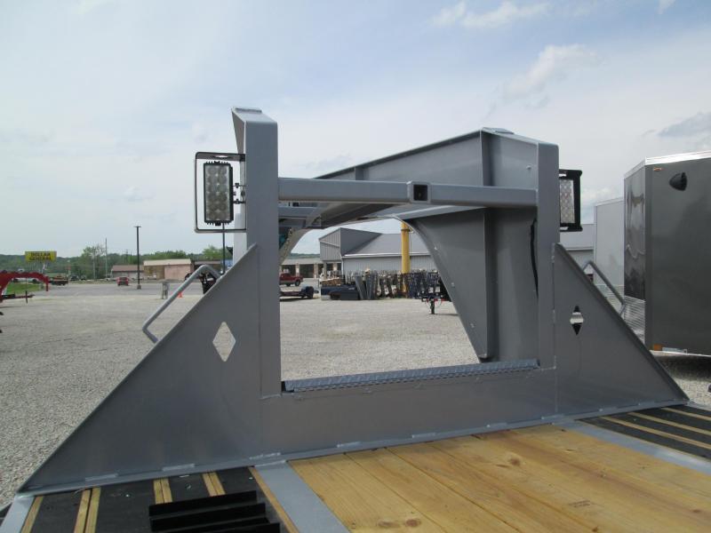 "2021 FMAX 212HDT 23'+12'x102"" 25.9K Diamond C Engineered Beam Gooseneck Equipment Trailer. 47354"