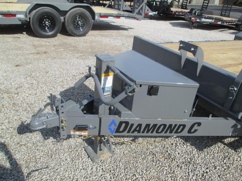 """2021 22'x82"""" 14K Diamond C EQT207 Tilt Equipment Trailer. 35432"""