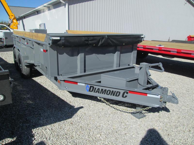 2021 14x82 Diamond C LPD207 Dump Trailer. 35574