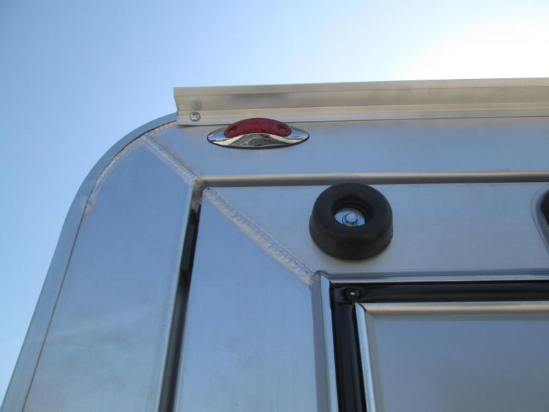 2022 7x12+3 7k Legend Deluxe Series V-Nose Aluminum Enclosed. 17105