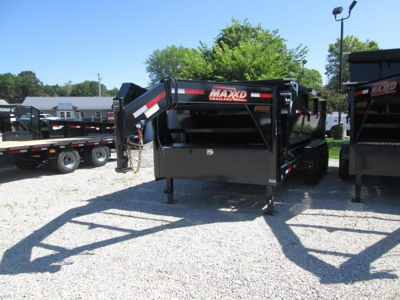 2019 83x16 21k Maxey Gooseneck Roll-Off Dump With Bin On Trailer.