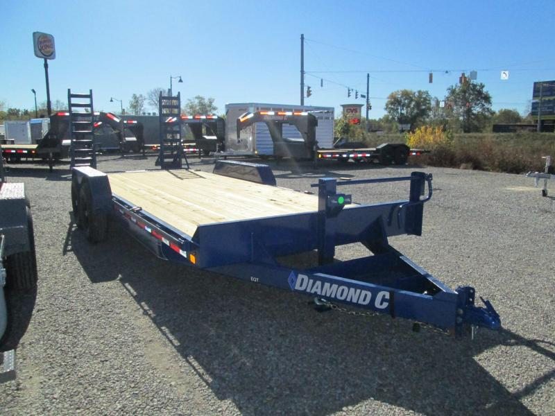 "2021 18'+2'x82"" 14K Diamond C EQT207 Equipment Trailer. 35736"