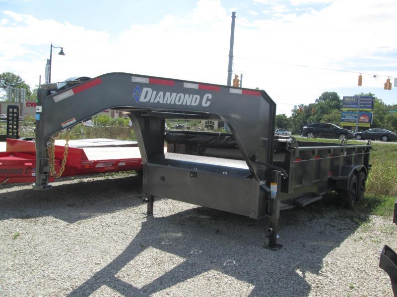 2021 18x82 20K Diamond C Gooseneck LPD210 Dump Trailer. 50353