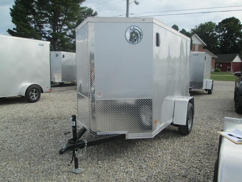 2021 5x8 Darkhorse Enclosed Cargo Trailer. 1547
