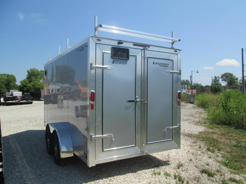 2021 7x14+V-Nose 7K w/ LADDER RACKS Legend FTV Enclosed Cargo Trailer. 17005