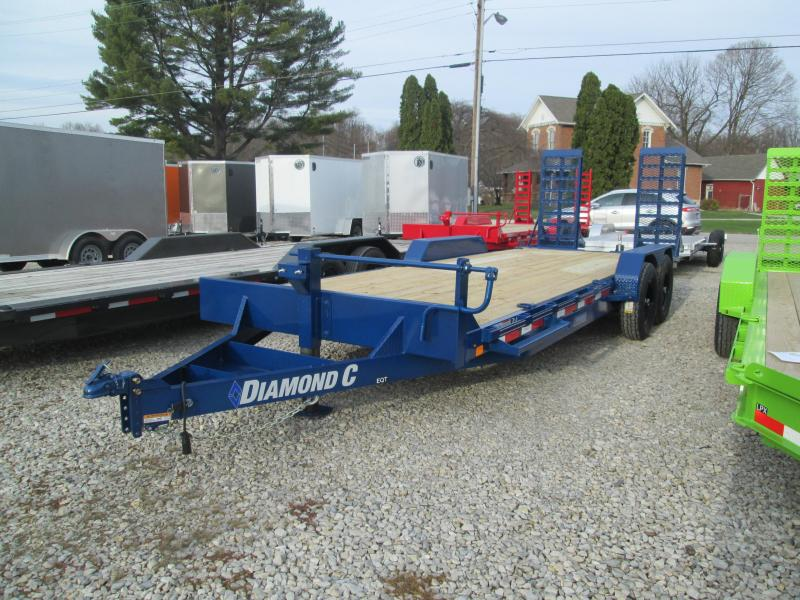 "2021 20'+2'x82"" 14.9K Diamond C EQT207 Equipment Trailer. 37647"