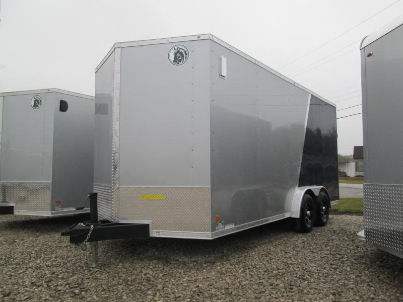 2021 7.5x18 10K Darkhorse Enclosed Cargo Trailer. 2009