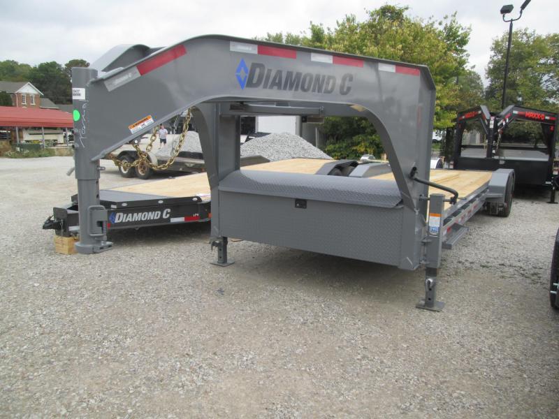 "2022 22'+2'x 80"" 18K Diamond C LPX208 Gooseneck Equipment Trailer. 52427"