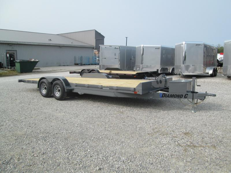 2021 22' 10K Diamond C GTF252 Equipment Trailer. 34849