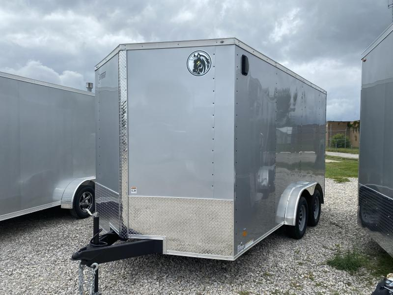 2022 7.5x14 7K Darkhorse Enclosed Cargo Trailer. 108088