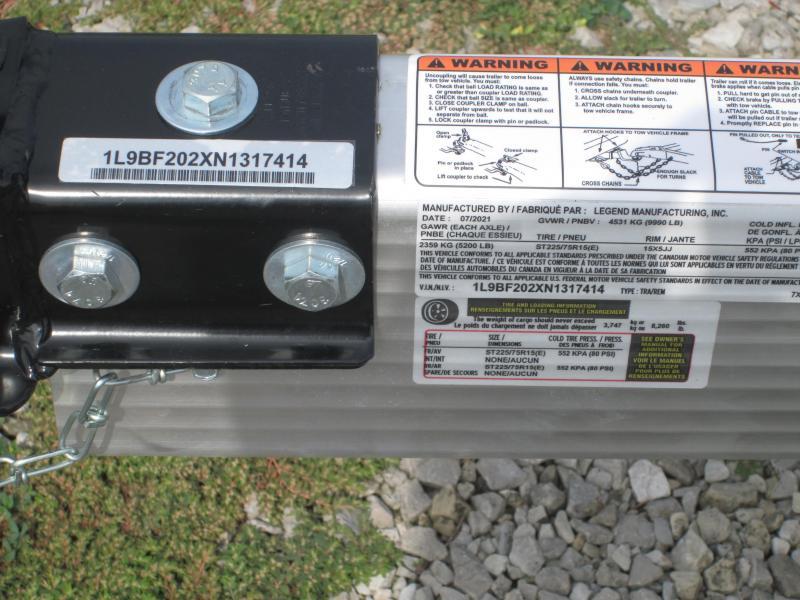 2022 7x20 10K Legend Tilt Car Trailer. 317414
