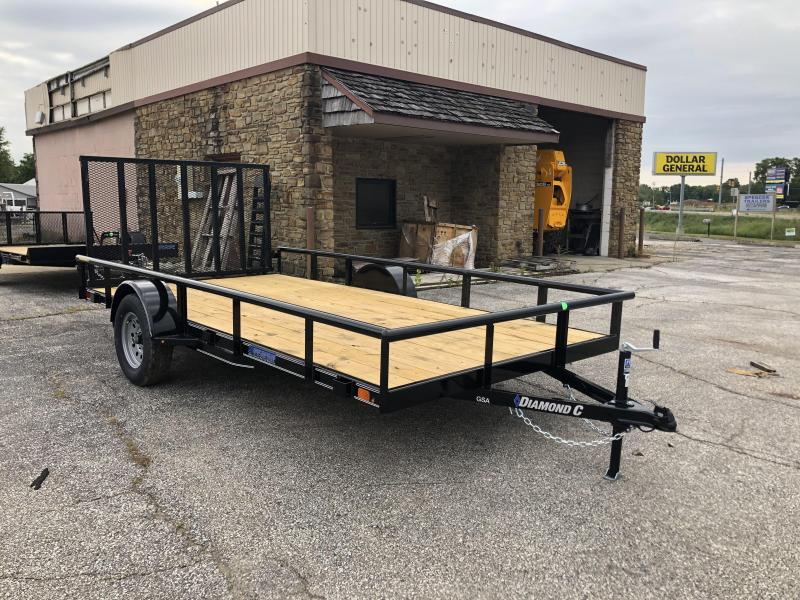 2021 14x83 GSA Diamond C Utility Trailer. 33409