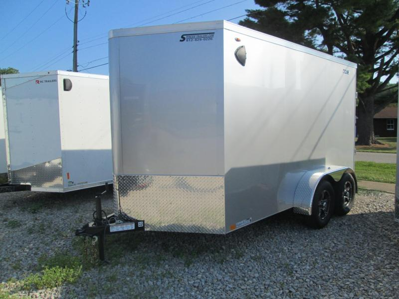 2021 LEGEND 7x12+V  STV Enclosed Trailer. 17130