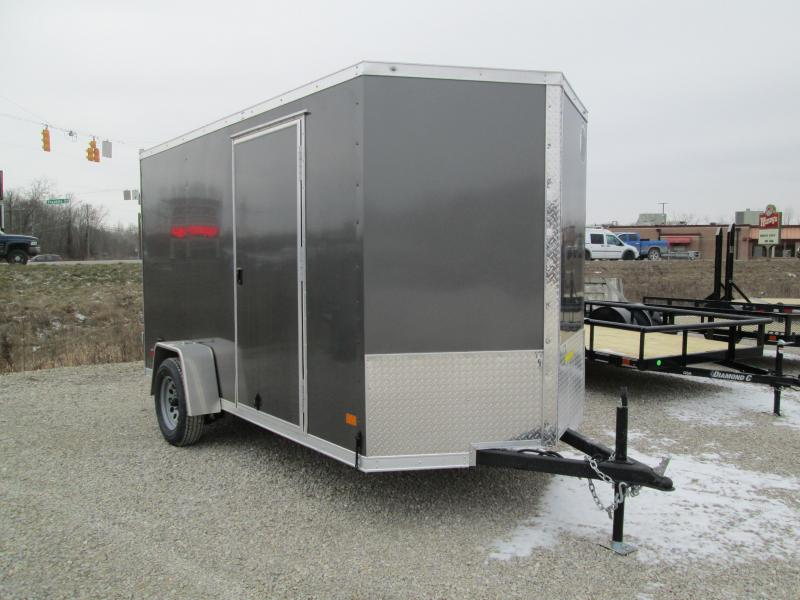 2021 6x12 Darkhorse Enclosed with double doors. 03551