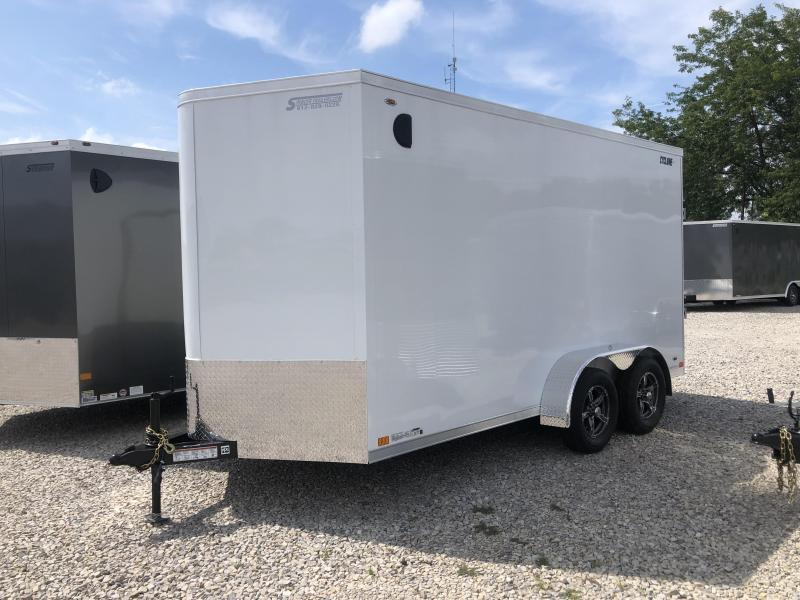 7' TALL!  UTV READY! 2020 LEGEND STV Cyclone 7x14 Plus V-nose Trailer
