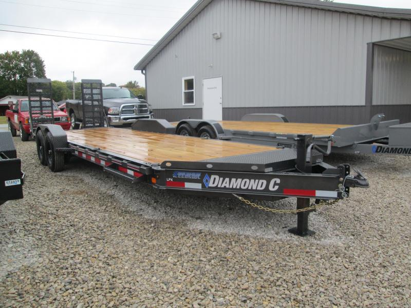 "2021 22'+2'x82"" 14.9K Diamond C LPX207 Equipment Trailer. 34725"
