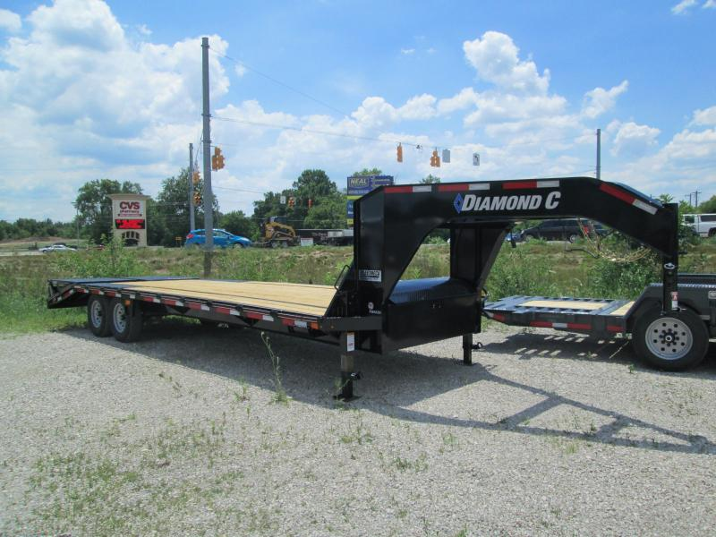 2020 FMAX 207MR 20+5x102 15.5K Diamond C Engineered Beam Equipment Trailer. 30994