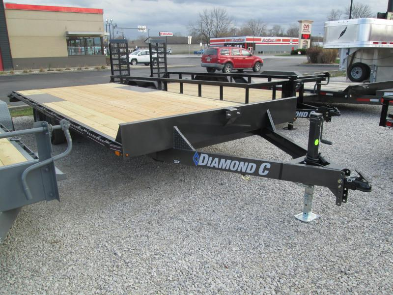"2021 19'+3'x102"" 10K Diamond C GDD252 Equipment Trailer. 37650"