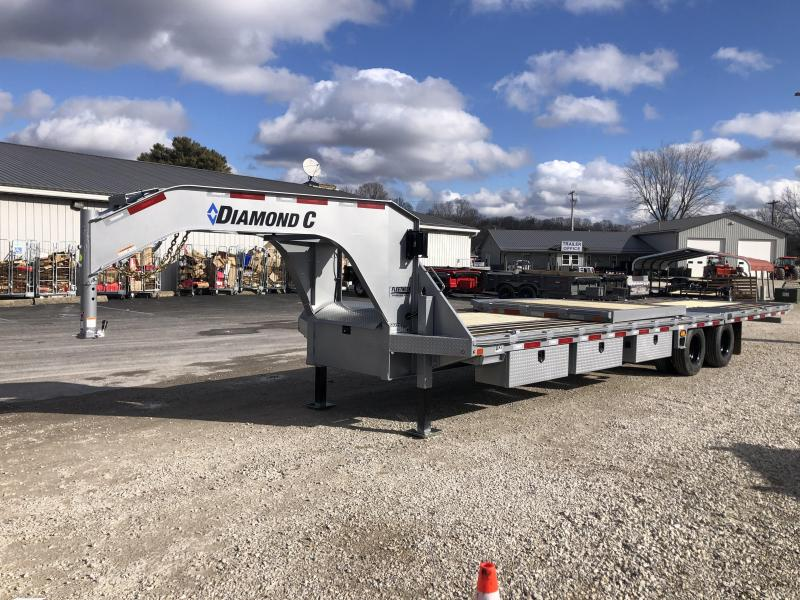 "2021 FMAX 210HDT 25K 20'+12'x102"" Diamond C Engineered Beam Equipment Trailer. 40599"