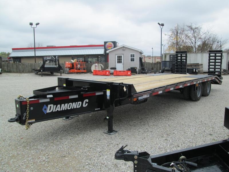 "2021 20'+5'x102"" 25K Diamond C PX210 Equipment Trailer. 34074"