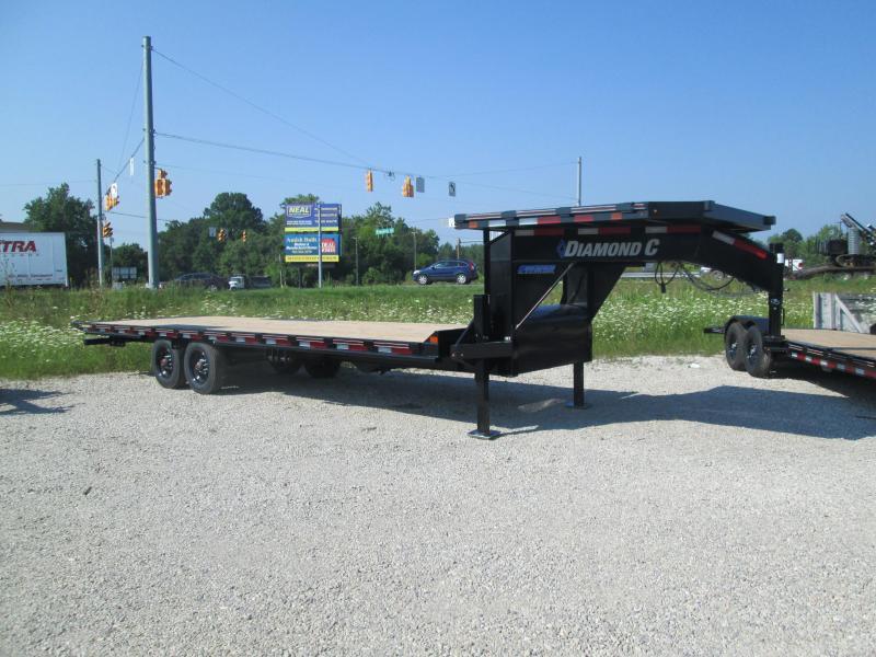 2021 26x102 20k Diamond C DET210 Gooseneck Tilt Equipment Trailer. 48501