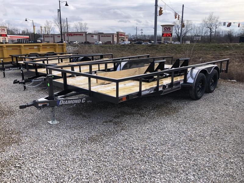 "2021 16'+2'x83"" 7K Diamond C GTU235 Utility Trailer. 40882"