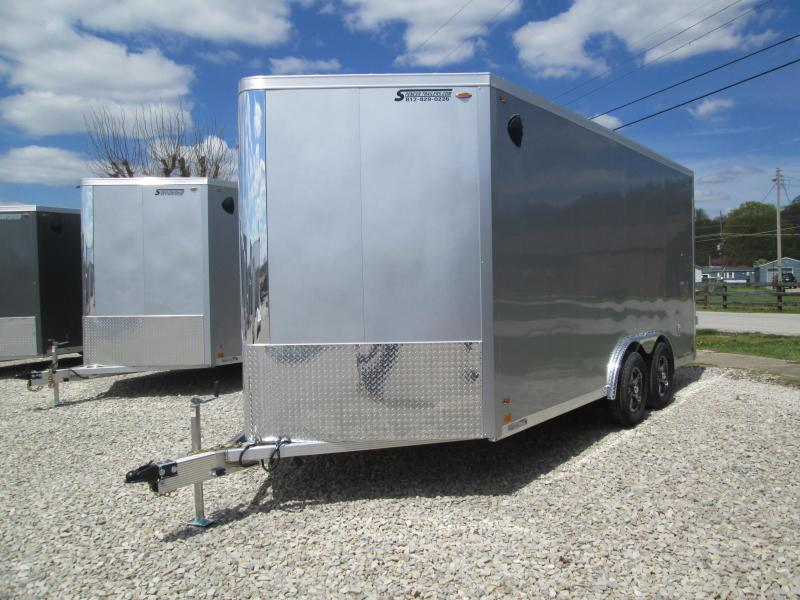 2021 8x16 7K Legend Flat Top V-Nose Enclosed Cargo Trailer. 17709