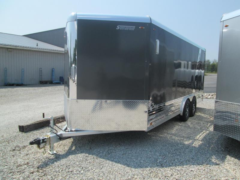 2021 8x18+V-Nose 7K Legend DVN Enclosed Cargo Trailer. 17003