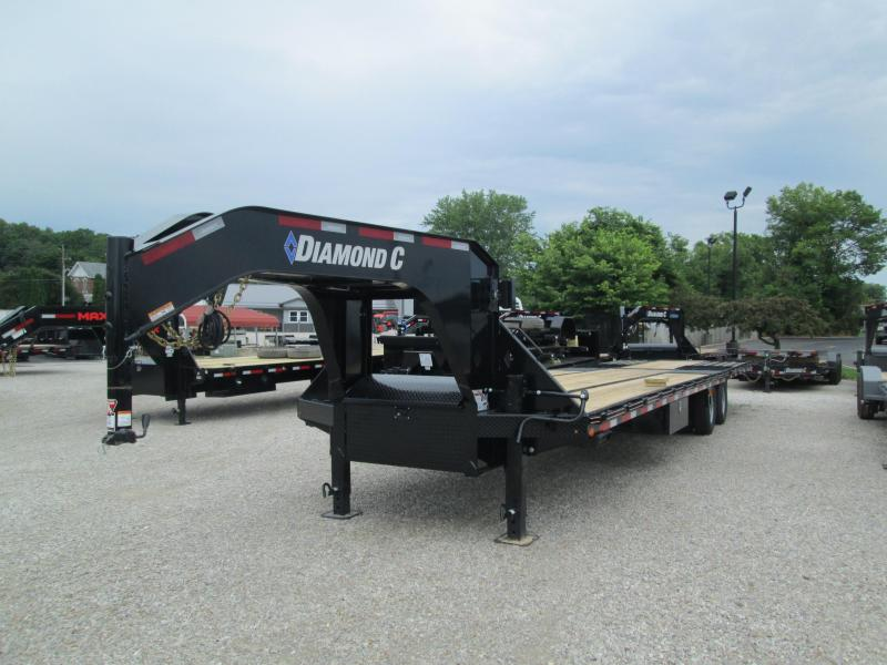 "2020 FMAX 210HDT 23'+12'x102"" 25K Diamond C Engineered Beam Gooseneck Equipment Trailer. 30707"