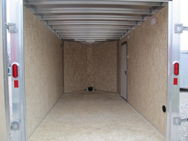 2021 12'+V-Nose 7K Legend FTV Enclosed Cargo Trailer. 17603