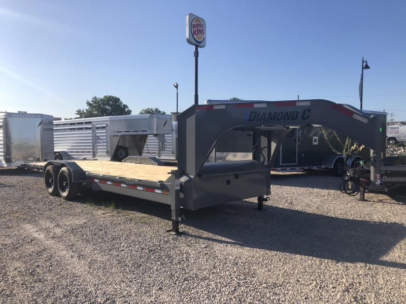 "2020 24'x82"" 14.9K Diamond C EQT207 Gooseneck Equipment Trailer. 31231"