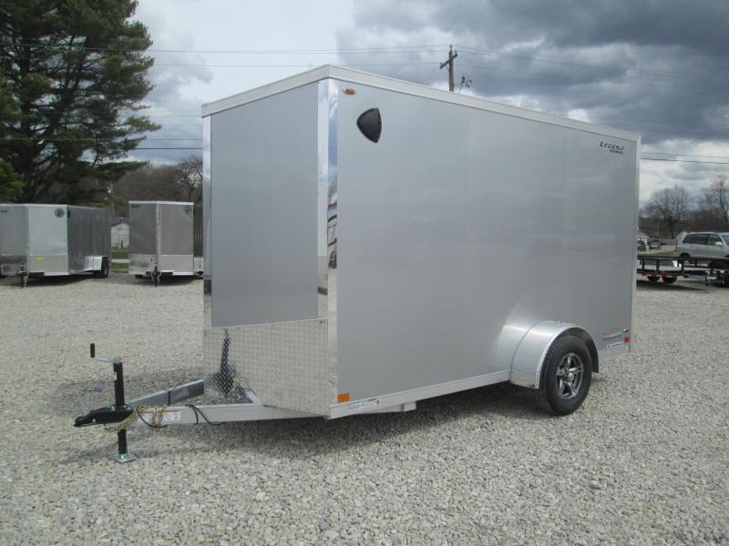 2021 6x12+V-Nose Legend Explorer Enclosed Cargo Trailer. 17135