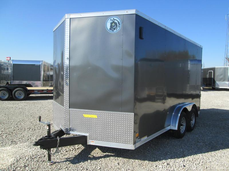 2021 7.5x14 7K Darkhorse Enclosed Cargo Trailer. 102367