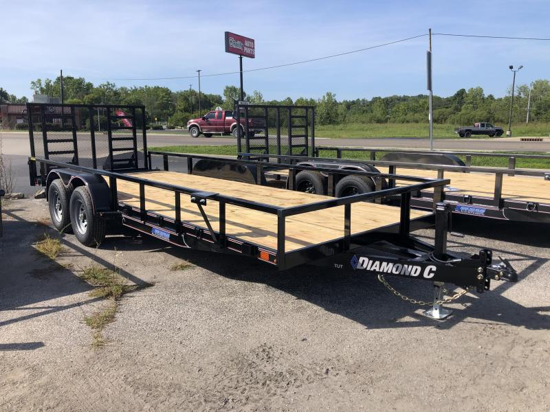 "2020 18'+2'x82"" 10K Diamond C TUT Utility Trailer. 32106"
