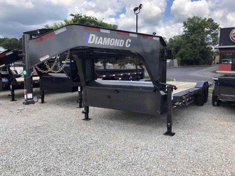 2020 24x102 14.9K Diamond C EQT207 Gooseneck Tilt Equipment Trailer. 30124
