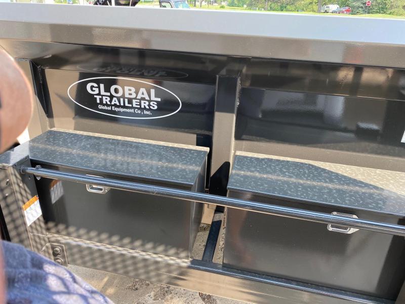 2021 Global Equipment Co. Gooseneck 7x16 Dump Trailer