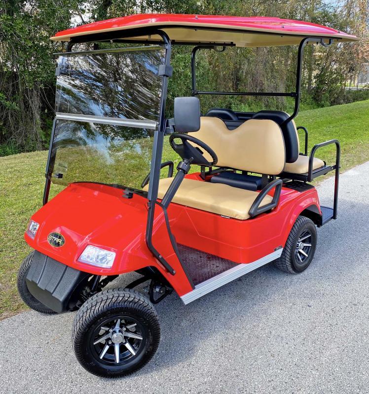 2021 StarEV Classic 36-2+2 - Red 4 Passenger Cart