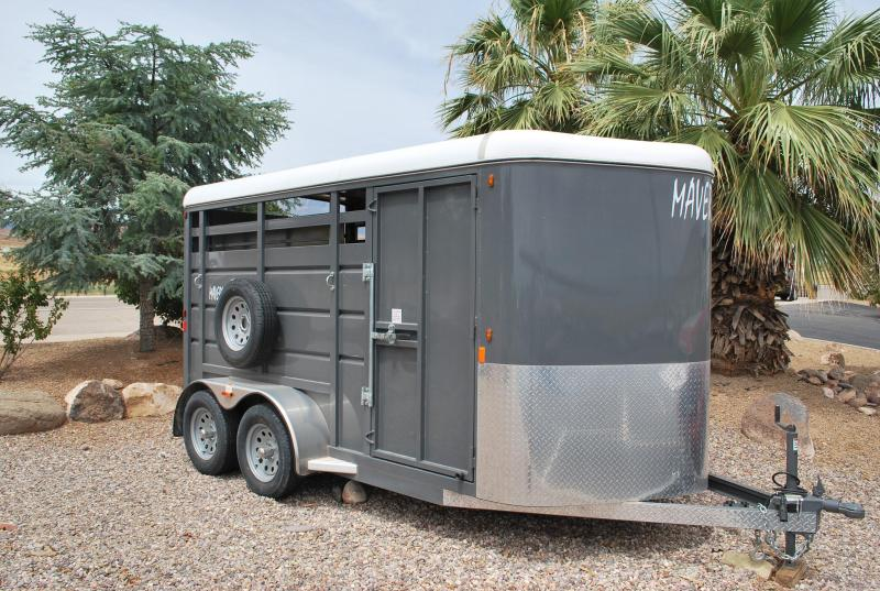 2019 Maverick 14' Steel Stock Horse Trailer