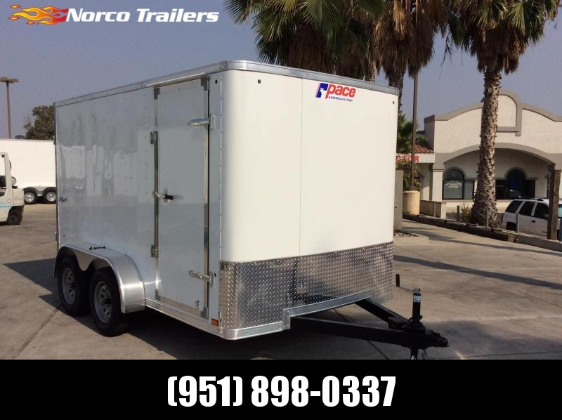 2021 Pace American OB 7 x 12 Tandem Axle Enclosed Cargo Trailer
