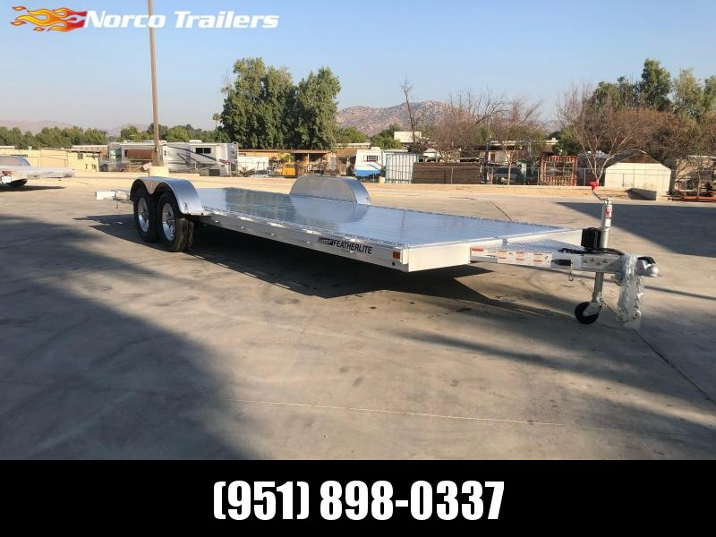2021 Featherlite 3182 8.5' x 22' 7K Flatbed Car Trailer
