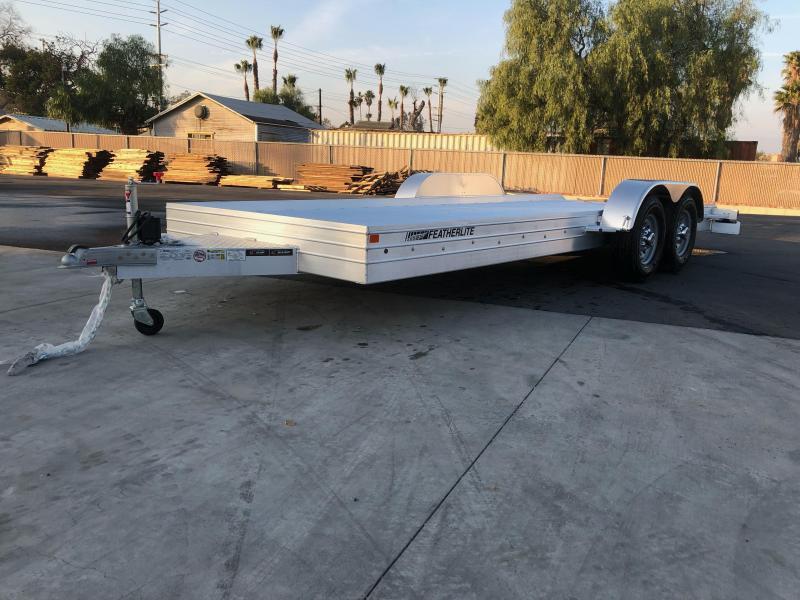 2021 Featherlite 3110 8.5' x 20' 10K Flatbed Car Trailer