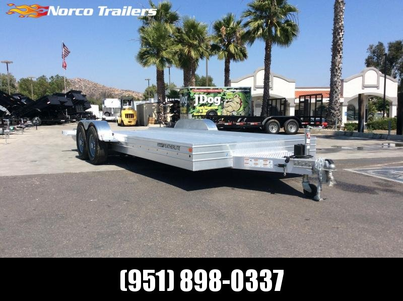 2019 Featherlite 3110 8.5' x 20' 9.6k Flatbed Car Trailer