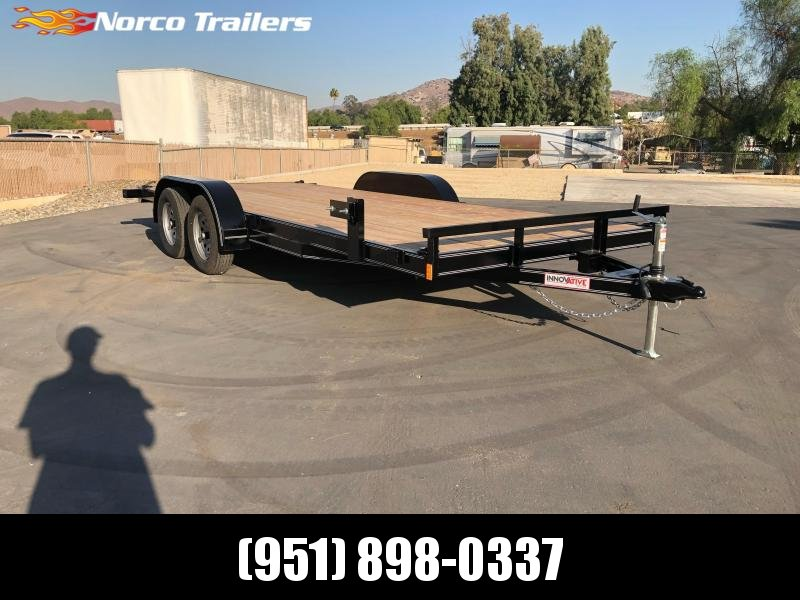 "2021 Innovative Trailer Mfg. 83"" x 18' 7K Flatbed Car Trailer"