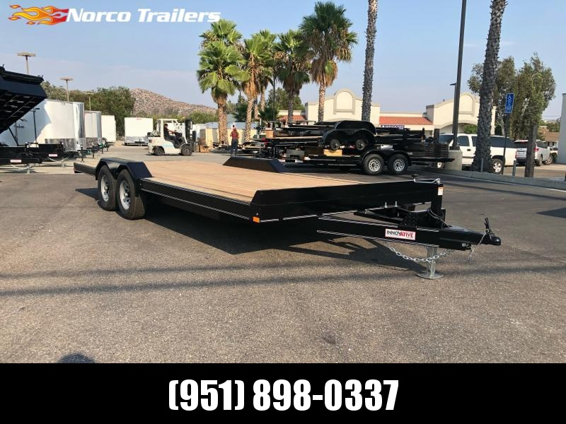 "2021 Innovative Trailer Mfg. 102"" x 20 10K Drive-over Fender Flatbed Trailer"
