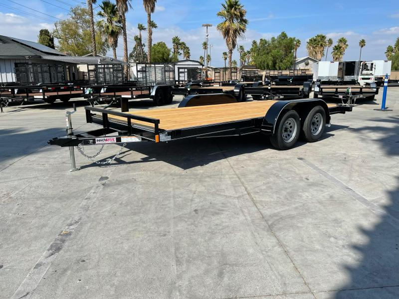 "2022 Innovative Trailer Mfg. 83"" x 16' Economy Wood Car Hauler Flatbed Trailer"