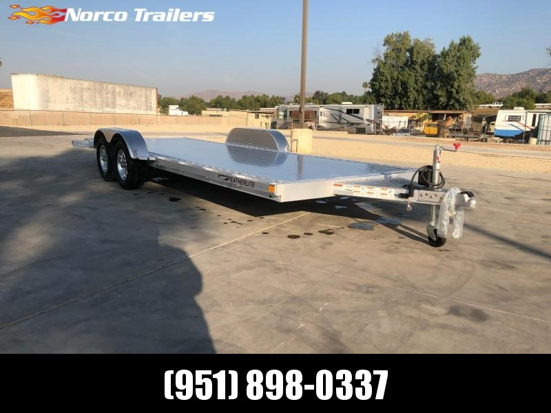 2021 Featherlite 3182 8.5' x 20' 7K Flatbed Car Trailer