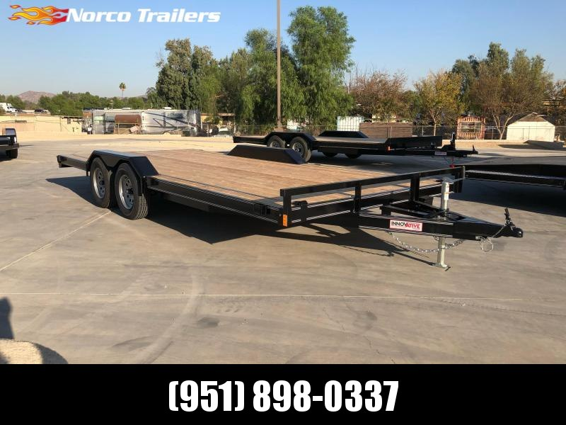 "2021 Innovative Trailer Mfg. 102"" x 18' 7K Flatbed Car Trailer"