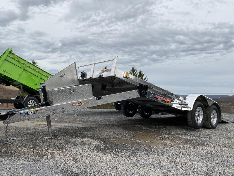 "2019 H&H Trailer 82"" X 20' Electric Speedloader Aluminum Tilt Trailer"