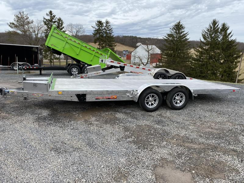 "2019 H&H Trailer 82"" X 20' Electric Speedloader Aluminum Tilt Trailer"