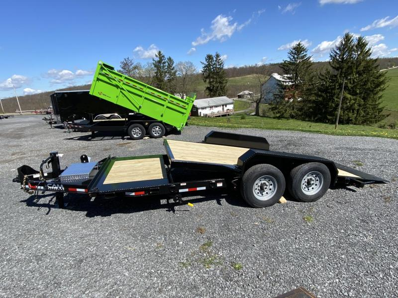 2020 Cam Superline 19' Extra-wide Split Deck Tilt Trailer